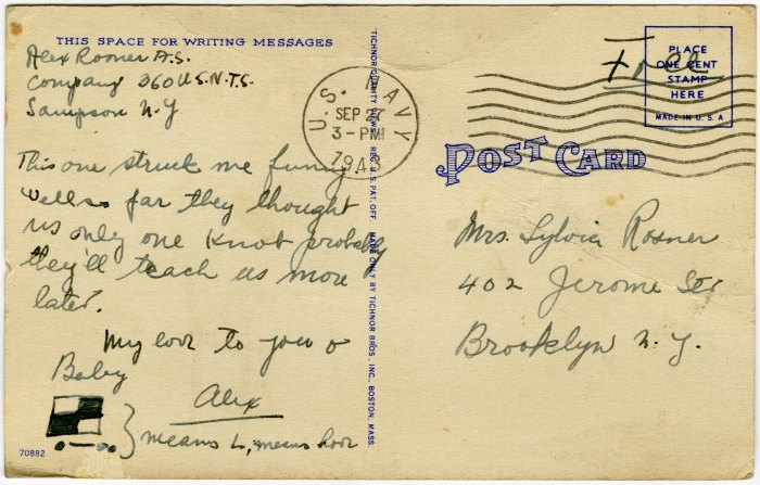 Molly Rosner_1943-09-27_Postcard_V